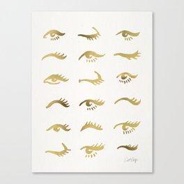 Mascara Envy – Gold Palette Canvas Print