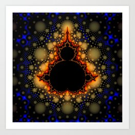 Christmas fractal Art Print