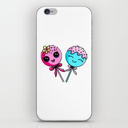 Couple Cake Pops iPhone Skin