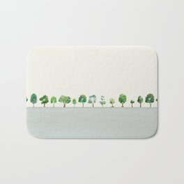 A Row Of Trees Bath Mat