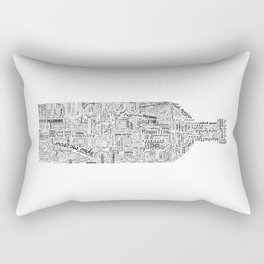 Drinks Full Tag Cloud Rectangular Pillow