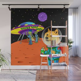 Shibe Doge Astro and the Aliens Memes Cats Cartoon Wall Mural