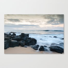 Dramatic coastline at Poipu beach in Kauai, Hawaii. Canvas Print