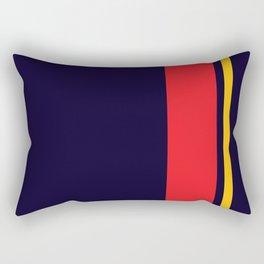 Navy Racer Rectangular Pillow