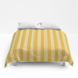 Large Two Tone Spicy Mustard Yellow Cabana Tent Stripe Comforters