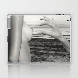 Lesbian Love at Sunrise on the beach Laptop & iPad Skin