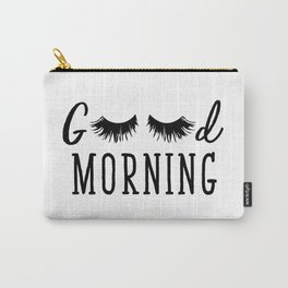 Good Morning - Eyelash Print Carry-All Pouch