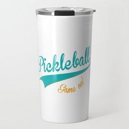 Pickleball Old School Game On Travel Mug
