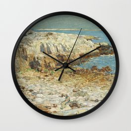Childe Hassam A North East Headland 1901 Painting Wall Clock