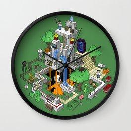 Mine City Wall Clock