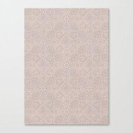 Damask Pattern Smoke Rose Canvas Print