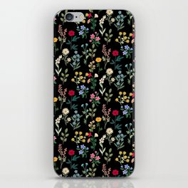 Spring Botanicals Black iPhone Skin