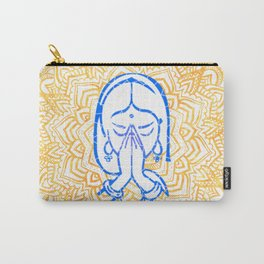 Namaste | Wisdom Flower Mandala Carry-All Pouch