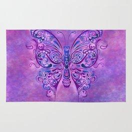 Butterfly In Purple Rug