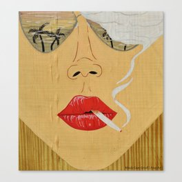 California Dreamin', Smoking Lady Series Canvas Print