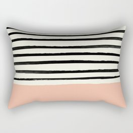 Peach x Stripes Rectangular Pillow