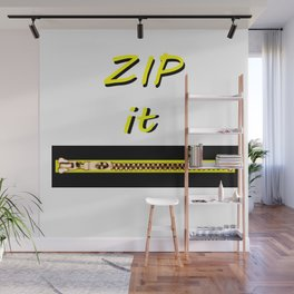 Zip it Black Yellow jGibney The MUSEUM Gifts Wall Mural