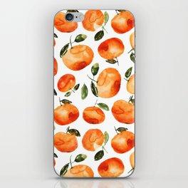 Watercolor tangerines iPhone Skin