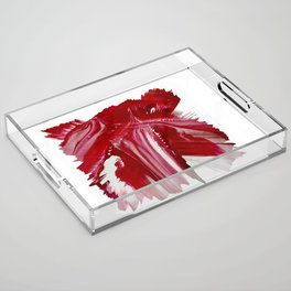 Lady in red Acrylic Tray