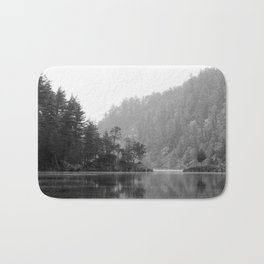 Historic Mattawa River in Black and White Bath Mat