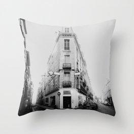 Monochrome France Throw Pillow