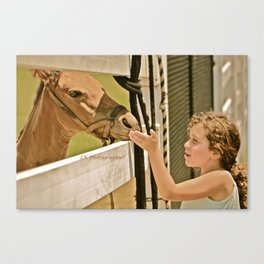 Girl with Horse Canvas Print