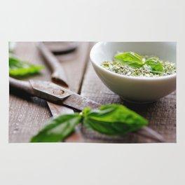 Herbs Kitchen still life from Basil Rug