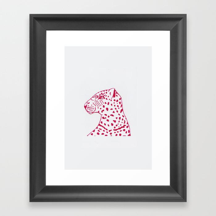 Pink Leopard Framed Art Print by Abbeymary FRM8968448