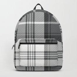 Black & White Tartan Backpack