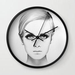 Twiggy Minimal Portrait Wall Clock