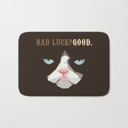 Grumpy Bad Luck Cat Bath Mat