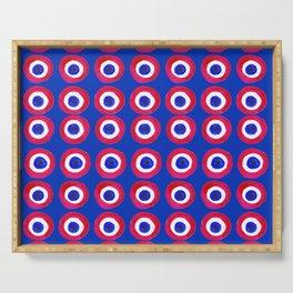 Donut Evil Eye Amulet Talisman - red on blue doughnut Serving Tray