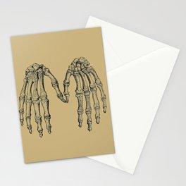 Antique Skeleton Hands Pointillism Drawing Stationery Cards