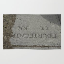 Fourteenth St NW Calgary sidewalk stamp Rug