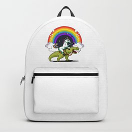 Unicorn Riding T-Rex Backpack