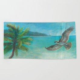 Belle's Journey: Island Hopping Beach Towel