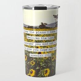 Jeremiah Sunflowers Travel Mug