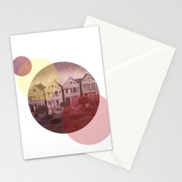 Full House Row Stationery Cards