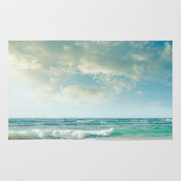 beach love tropical island paradise Rug