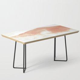 Terra Cotta Hills Abstract Landsape Coffee Table