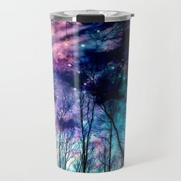 Black Trees Colorful SpacE Travel Mug