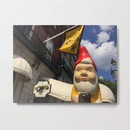 Gnome at Cheers in Boston on Beacon Street (Bull and Finch Pub) Metal Print