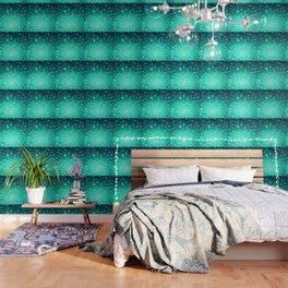 Stars Ombre Cool Aqua & Teal Wallpaper