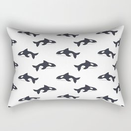 Orca Pattern Rectangular Pillow