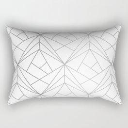Geometric Silver Pattern Rectangular Pillow