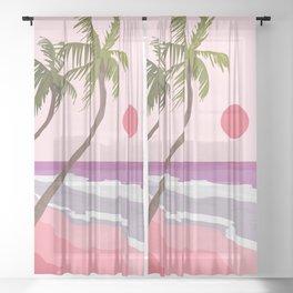 Tropical Landscape 01 Sheer Curtain