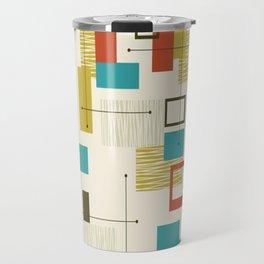 Mid Century Modern, Sputnik Pattern Travel Mug