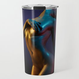 Nude Woman Bathed in Light Travel Mug