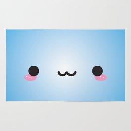 Kawaii Face (Blue) Rug