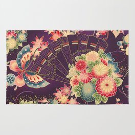Hyakka Ryoran Kimono Inspired Rug